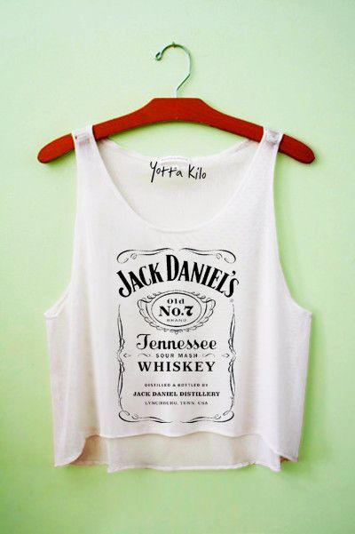 Jack Daniels Crop Tank Top - Yotta Kilo