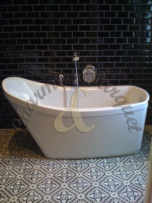 183 best Carreaux de ciment images on Pinterest | Bathroom ...