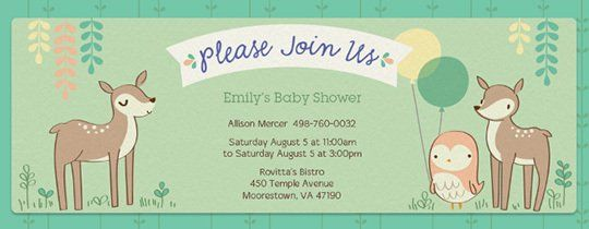 Forest Shower Invitation Woodland Baby Pinterest Invitations And Free