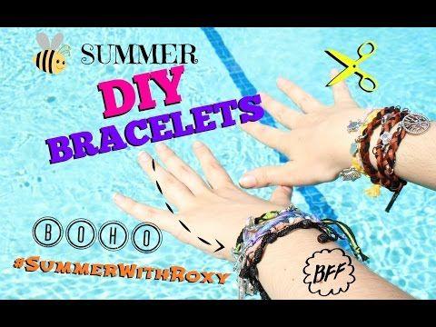 DIY BOHO SUMMER BRACELETS ❤ - YouTube
