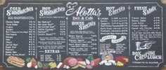 Alotta's Deli in Los Altos, CA new chalkboard menuboard by ArtFX Design Studios