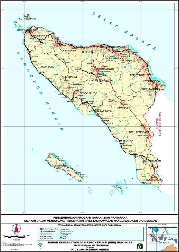 Peta Jaringan Jalan Provinsi NAD