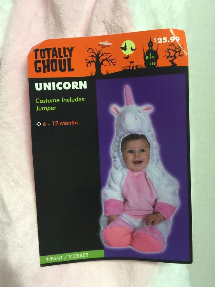 Totally Ghoul Unicorn Infant Girls Costume 6 12 Months Halloween Plush Top Hood | eBay