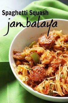 Spaghetti Squash Jambalaya | Good Cheap Eats - Spaghetti Squash Jambalaya just may be one of the best dinners I've ever made!