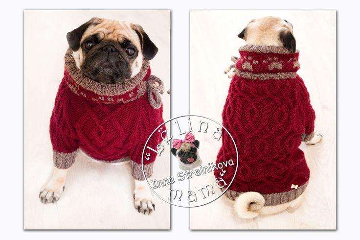 Вишнёвый с лапками))#араны #handmade #хендмейд #pug #pugs #carlino #mops #мопс #ручнаяработа #вязание #вязаниесобакам #назаказ #собаки #dog #вяжудлясобак #вязанаяодеждадлясобак #вязаниесобакам #одеждаживотным #одеждадлясобак #dogfashion #dog #crochet #crochetting #knitdogs #knitweardesign #livemaster #mysolutionforlife #dogsweater #instadog #dogsofinstagram #dogcoat #ажур #knit #wooll #knitted #craft…