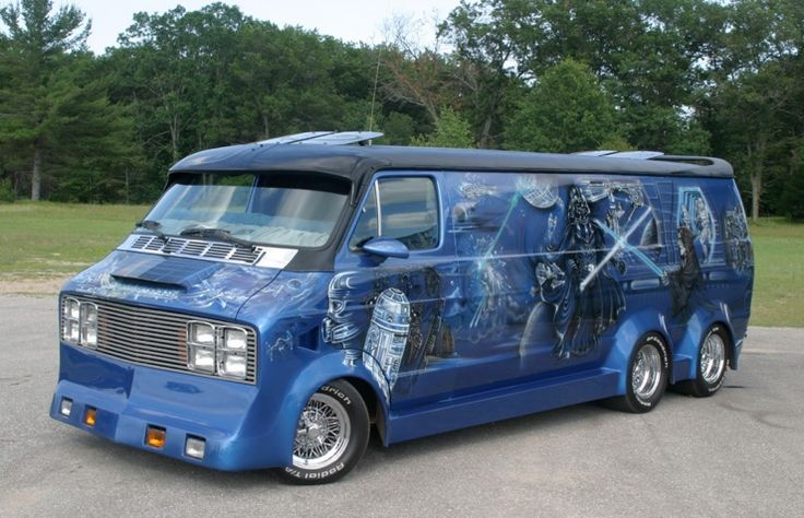 Oh hell yeah! May the force be with this rapist Star Wars van