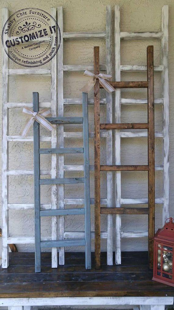 Farmhouse Blanket Ladder Decor