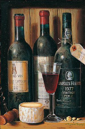 Vintage port wine....with toasted walnuts, Stilton cheese, and a roaring fire on a cold winter night.