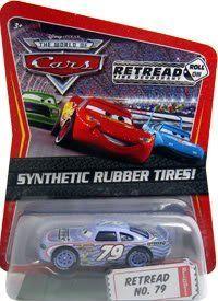 Disney / Pixar CARS Movie Exclusive 1:55 Die Cast Car with Sythentic Rubber Tires Retread by Mattel, http://www.amazon.com/dp/B002E3L2C6/ref=cm_sw_r_pi_dp_wiPjsb0PKN4D6