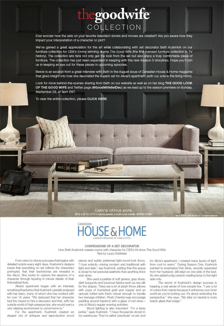 bobs living room sets%0A Eisenhower Sofa  Thrive Furniture  See more  Mitchell Gold   Bob Williams    How Beth Kushnick creates rooms with character for CBS u    s hit