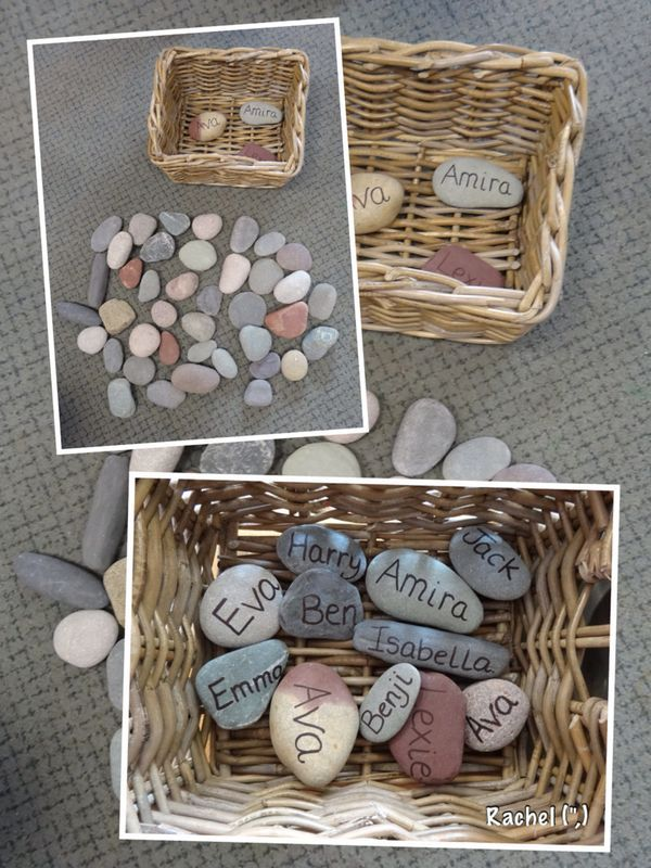 "Name stones - from Rachel ("",)"