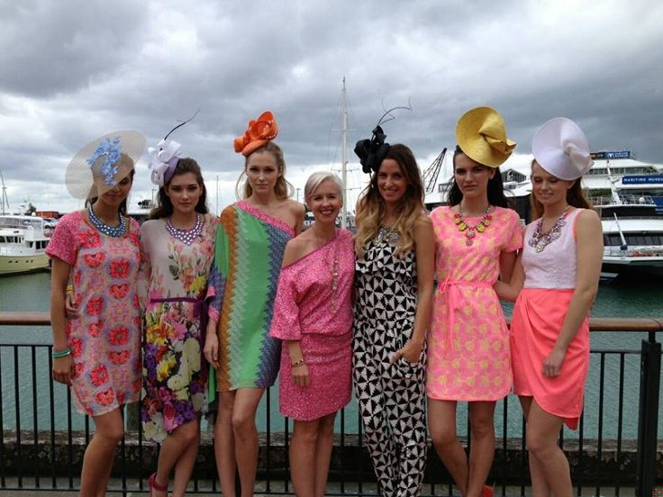 Here's Cush with Kelly Coe from Augustine International and 5 gorgeous models at the FoodStore Melbourne Cup Fashion Show. How amazing do they all look!