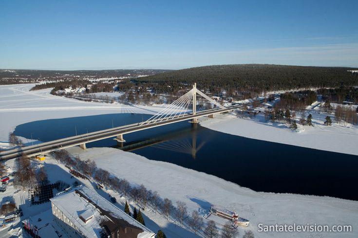 Rovaniemi City Center in Lapland by air
