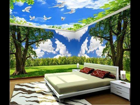 Desain Wallpaper Kamar Tidur Motif Awan Pegunungan Cantik ...