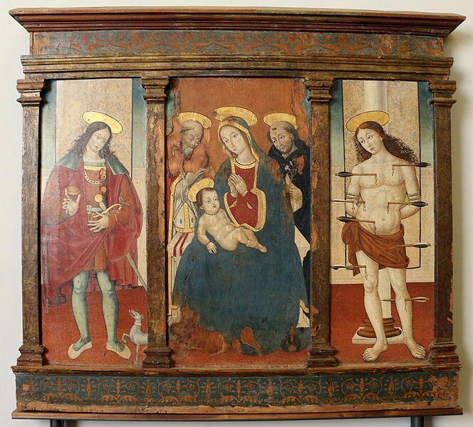 Orlando Merlini (attr.), Madonna col Bambino in Trono tra Santi, 1480-1500 circa
