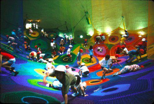 Artist Crochets Fabulous Playgrounds for Children : TreeHugger  http://www.treehugger.com/culture/artist-crochets-playgrounds-children.html#