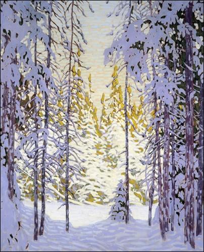 "I can hear the ""hush"" that a blanket of snow brings - Lawren Harris Winter Wonderland"