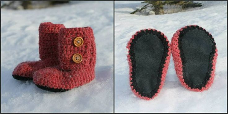 Leather Bottom Boots Winterberry alpaca blend 6-9 Month $50