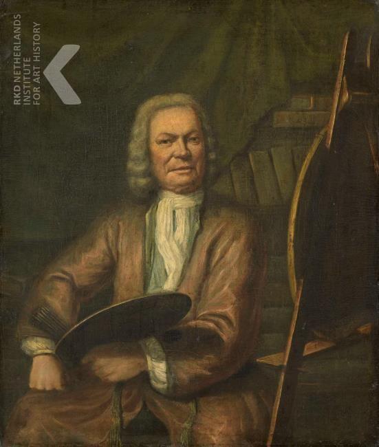 Cornelis Wever Portrait of Jan Maurits Quinkhard (1688-1772), schilder, 1771 gedateerd Amsterdam, Rijksmuseum,