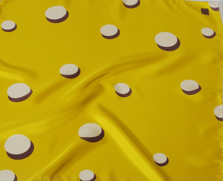 Dots jaune Carré de soie