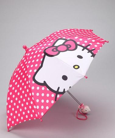 Hot Pink Hello Kitty Umbrella by Summer Showers: Kids' Rain Gear $8.99