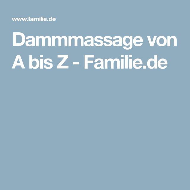 Dammmassage von A bis Z - Familie.de