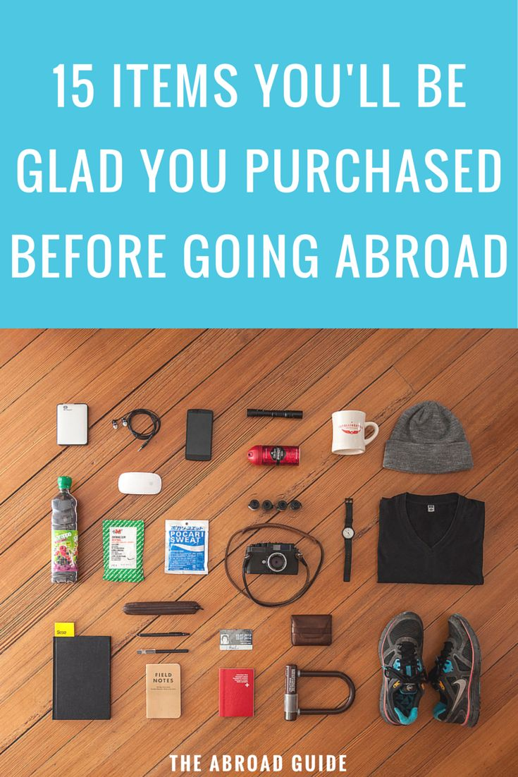 If you're studying abroad soon, you're bound to forget at least a few of these things that you should definitely take with you for your study abroad experience.