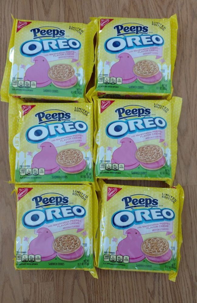 6 NEW Nabisco Oreo Peeps Marshmallow Flavor Creme Cookies Limited FREE SHIPPING  | Home & Garden, Food & Beverages, Cookies & Biscotti | eBay!