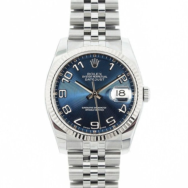 Refurbished Pre-owned Rolex Mid 2000's Model 116234 Men's Datejust Stainless Steel Concentric Dial Watch