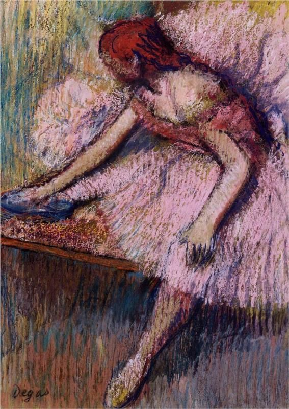 Pink Dancer, oil on canvas by Edgar Degas, c. 1896 (Impressionism)