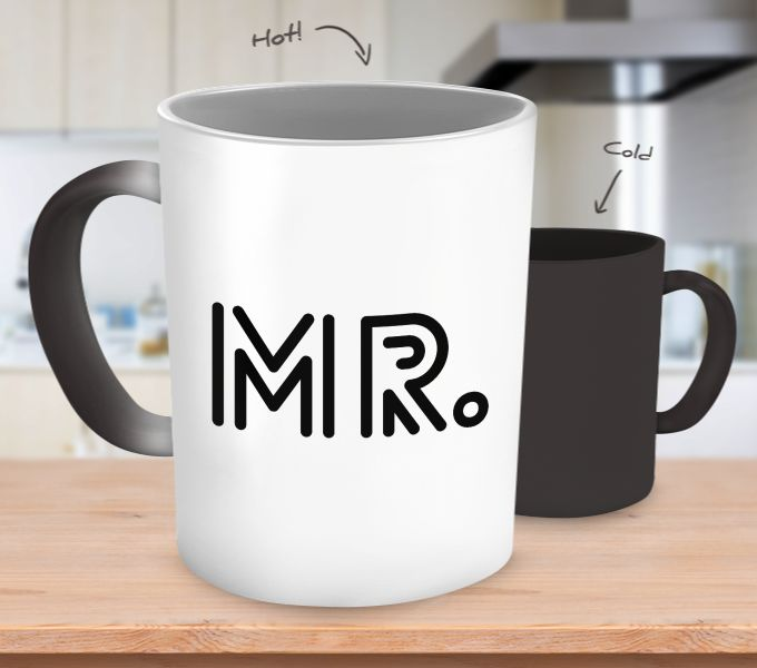 ♥ Product: Color Changing Coffee Mug ♥ Design Features: Typography ♥ Quote or Saying: Mr. ♥ Design Printed On Both Sides Of Mug ♥ Design Prints in Black Ink ♥ 11 oz. Ceramic Coffee Mug ♥ This cute nov