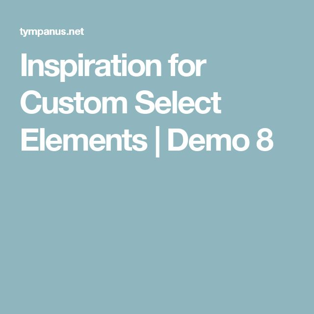 inspiration for custom select elements demo 8