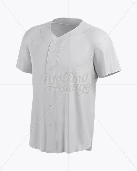 Download Download Men's Baseball Jersey Mockup - Halfside View PSD ...