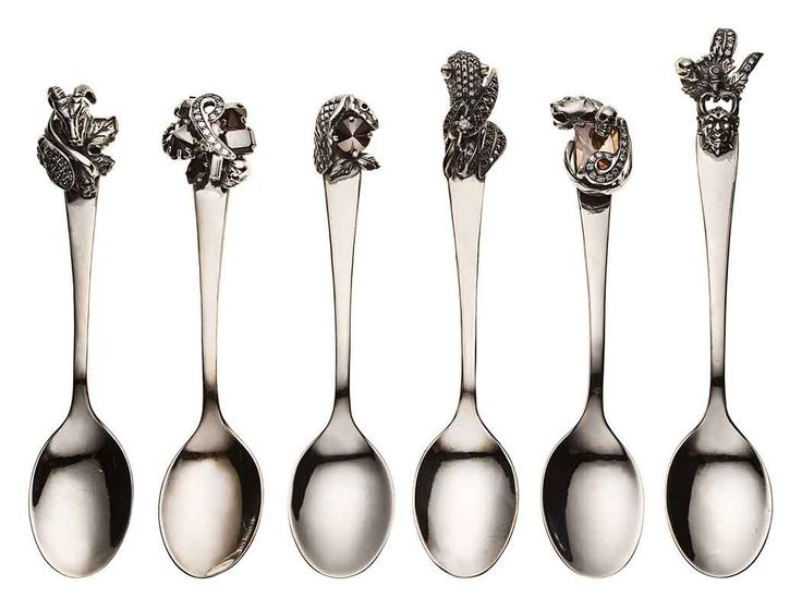 Puro Iosselliani's Bejeweled Silver #Spoon. #vogue #iossellianidesign #iosselliani