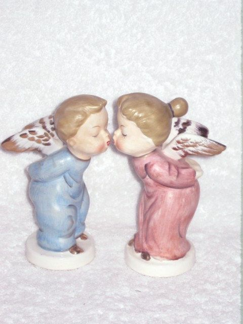 Vintage Kissing Angels Figurine-Hd Streaming Porn-4846