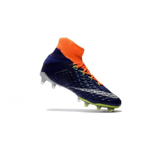 pretty nice 92c3a 65abe ... Nike Hypervenom - Best Nike Hypervenom Phantom III DF FG Blue Orange  Soccer Shoes . ...