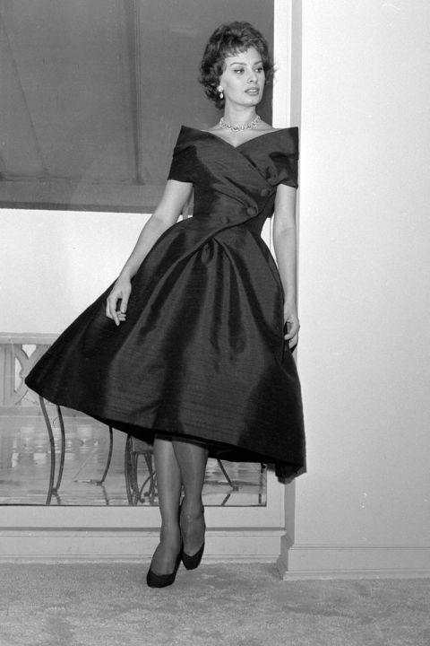 Sophpia Loren, 1958.  Celebrating Sophia Loren - Vintage Photos of Sophia Loren