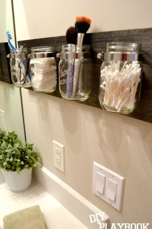 Bathroom DIY decor that keeps your counter free from clutter