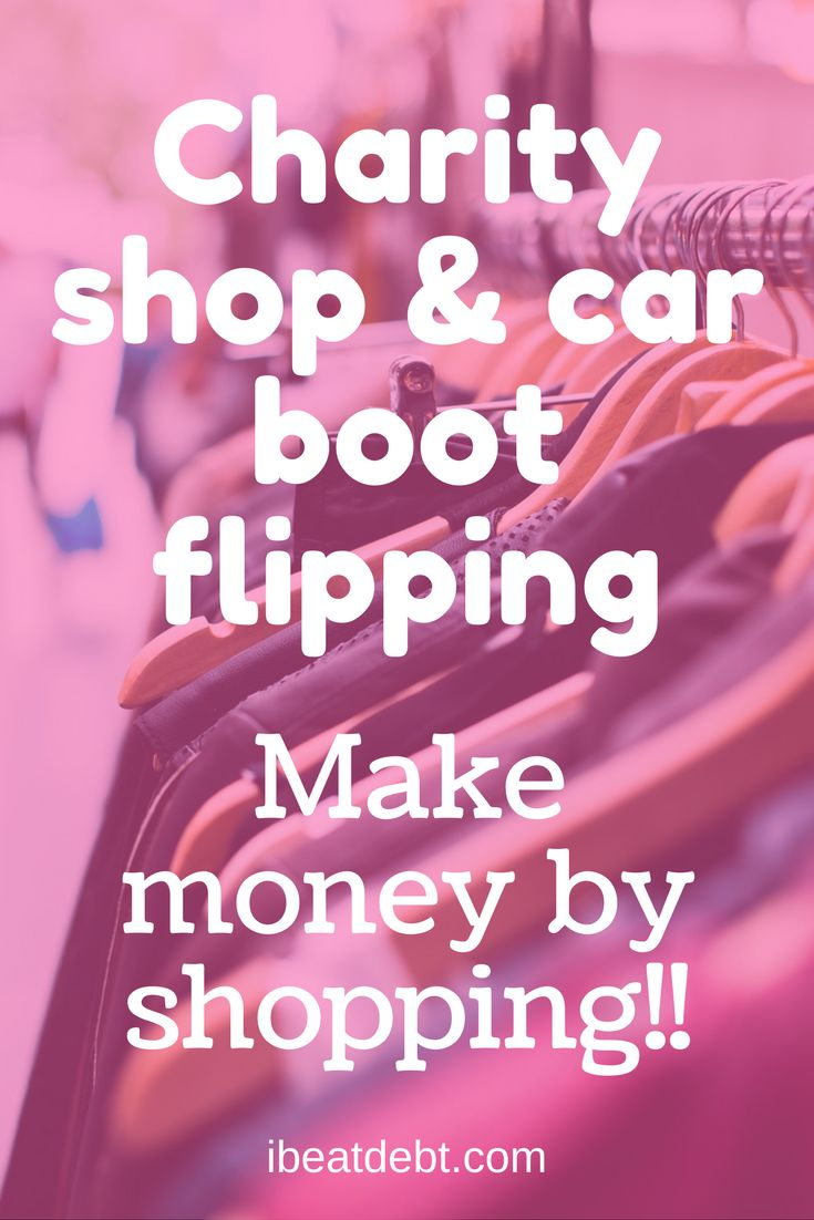 Love shopping? Want to make some extra money? Have you tried charity shop (also known as thrift store) or car boot sale flipping? Do some research, go shopping, sell the items on and make some money! It's a win win!