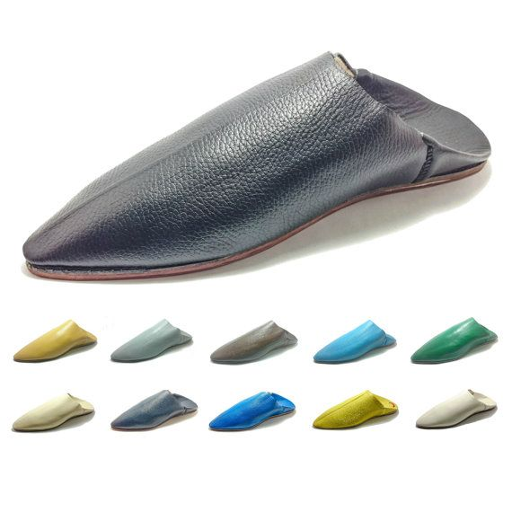Moroccan Traditional Babouches, Slippers for Men, Handmade Leather, Sizes and Colors Of Choice