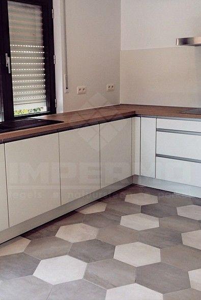 zeshoek tegels, keramische zeshoek tegels, goedkope tegels, onderhoudsvriendelijke vloer, patroon, moderne keuken