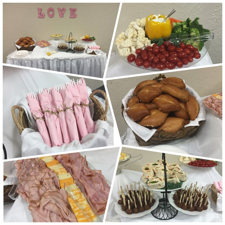 Food Table Display for Vintage Tea Party
