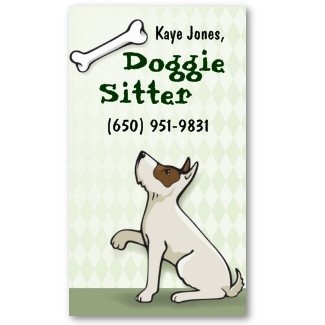 Cute Dog Sitter Business Cards
