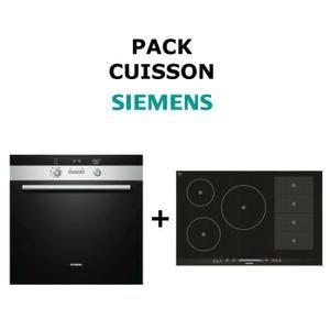 Pack Cuisson SIEMENS : Four multifonction pyrolyse + Table de cuisson Induction Flex - Achat / Vente lot appareil cuisson - Cdiscount