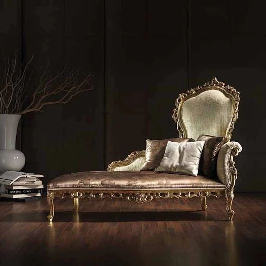 Silver chaise lounge