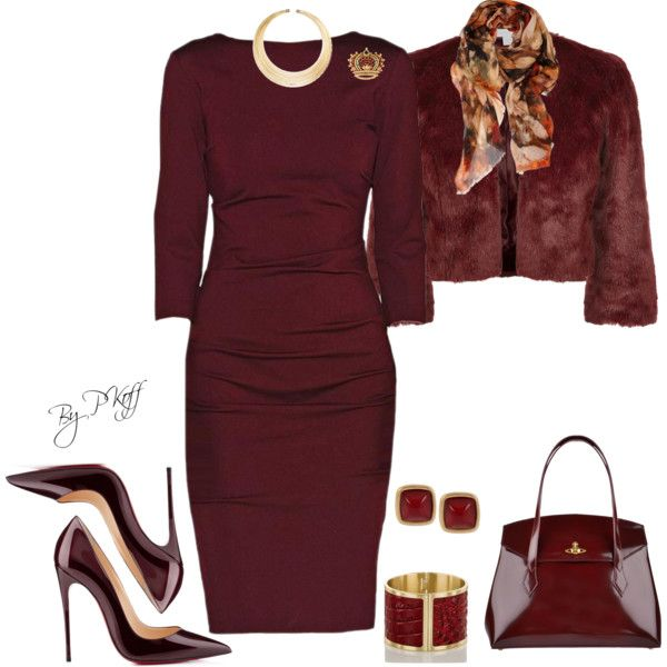 A fashion look from November 2014 featuring Nicole Miller dresses, Monsoon jackets and Christian Louboutin pumps. Browse and shop related looks.
