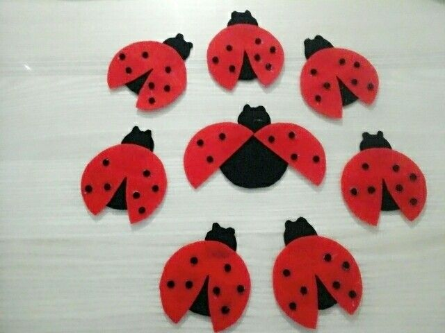 Ladybug magnets for my twindaughter's teachers