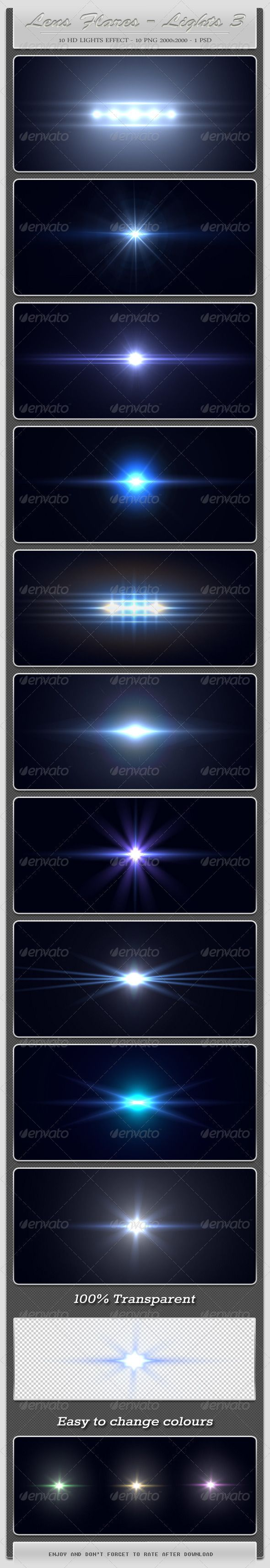 10 HD Lens Flares - Light Effects 3  #GraphicRiver        10 HD Lens Flares – Light Effects – The Third Part includes:   - 10 PNG files sized at 2000×2000 pixels ( 100% transparent)  - PSD file   Can be added to: text, images, logos, flyers, etc.     	         Created: 9August12 GraphicsFilesIncluded: PhotoshopPSD #TransparentPNG Layered: Yes MinimumAdobeCSVersion: CS PixelDimensions: 2000x2000 Tags: effect #hightquality #lens #lensflares #light #lights #optical #photoshop #professional…