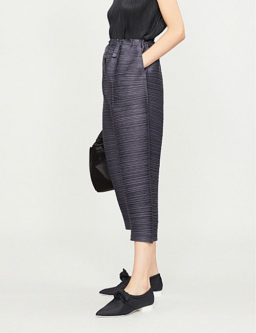 48cff73336 PLEATS PLEASE ISSEY MIYAKE Thicker Bounce wide-leg pleated trousers ...