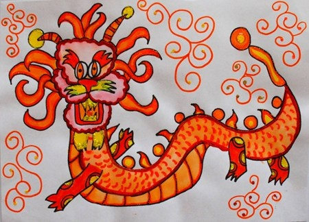 """Chinese Dragons"" from Artsonia"
